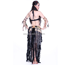 Adults Stage Performance Black new sexy arab tribal belly dance costume