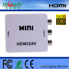 hot selling hdmi to av converter price in india high quality hdmi input to rca output for dvd to tv mini hdmi2av converter