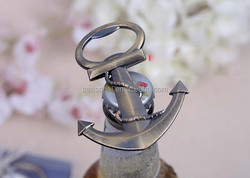 Newest and bestseller antique copper marine anchor zinc alloy beer bottle opener