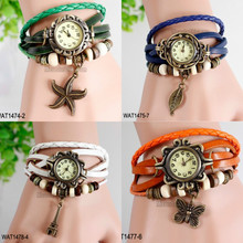 Wholesale fashion ladies fancy bracelet leather watch