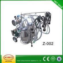 KIMO New Condition Electric Vacuum Pump Movable Double Buckets Milking Machine For Sale