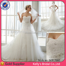 expensive french lace&tulle prom simple wedding gowns