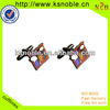 custom popular colorful figure logo Printing Metal cufflinks wholesale