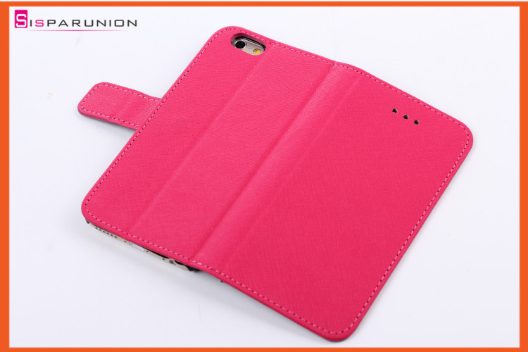 Cross wallet leather case with credit card slot for Apple iPhone 6