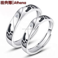 925 sterling silver rings wedding gifts for couple rich diamonds heavy design white gold ring accept paypal wholesalers