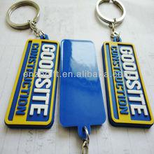 custom 2D soft PVC keychain, cheap bulk 3D rubber key rings, plastic keychain