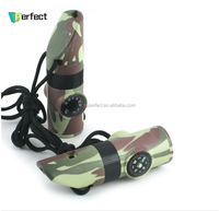 Camouflage color 7 in 1 emergency plastic whistle