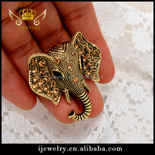Top high quality elephant shape brooch,newset Animal rhinestone brooch for gift