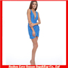HC4126 High Quality Cheap Price Light Blue Deep V Front The Hot Sale Deep V-neckline Mini skirt Evening Cocktail Party Dress