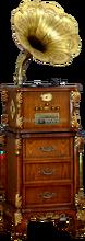 Antique Gramophone, Vinyl Record Player, Wooden Classic Gramophone