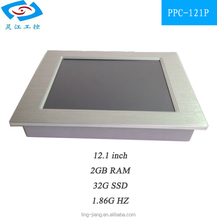 12inch Fanless Indutrial Panel with 12V build in 32G SSD 2G RAM single board pc