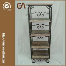 Estanterías para libros de madera y metal de 5 estantes