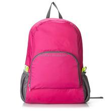 Lightweight waterproof nylon portable foldable backpack / folding sport travel bag for woman