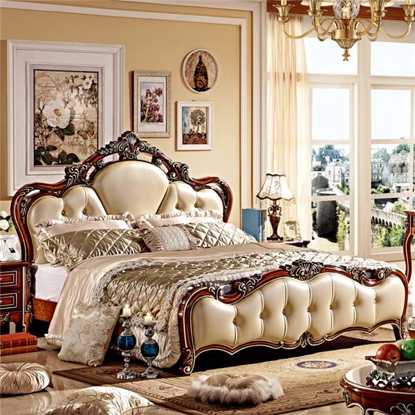 ... italiano mobili camera da letto in legno intagliato a mano-Camera da