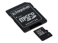 - Flash memory card ( microSDHC to SD adapter included ) - 32 GB