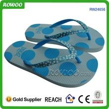 Summer print boy blue cheap wholesale flip flops