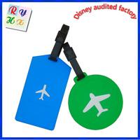 School bag tag luggage tag, custom standard size pvc luggage tag with paper card insert