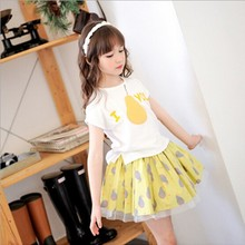 Tat2115summer hottest t-shirt pearl printed short sleeve kids t-shirt