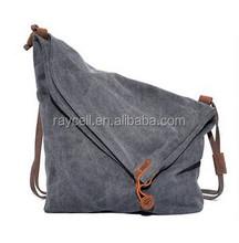 Vintage style cross body canvas fashion sling bag