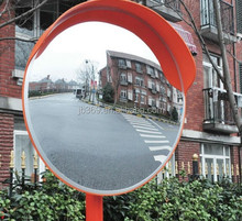 Traffic safety outdoor convex rear view mirror