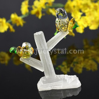 Cheap crystal animal figurines chinese glass figurines