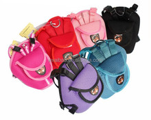 Fashion and Durable Pet Backpack Soft mesh doggie back bag with leash inside the bag