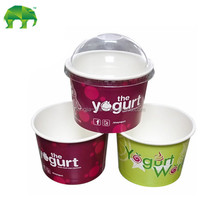 8oz yogurt paper cup with PS dome lid