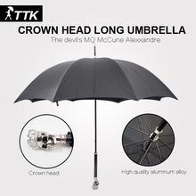English lunfan fashion personality skull crown inverted umbrellareverse umbrellasun full body umbrella for sale