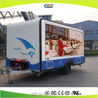 china alibaba express outdoor waterproof advertising led display, mobile trailer led display van