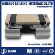 Flexible rubber construction joint filler in concrete floor