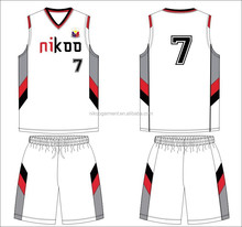 new design college team 100 polyester mesh mens basketball uniform design