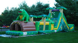 Playground Inflatable Obstacle Slide/Inflatable Bouncy Slide For Fun