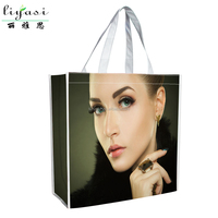 Hot Sale Waterproof Laminated Grocery Shopping bag,Reusable Laminated Non Woven Grocery Shopping Tote Bag