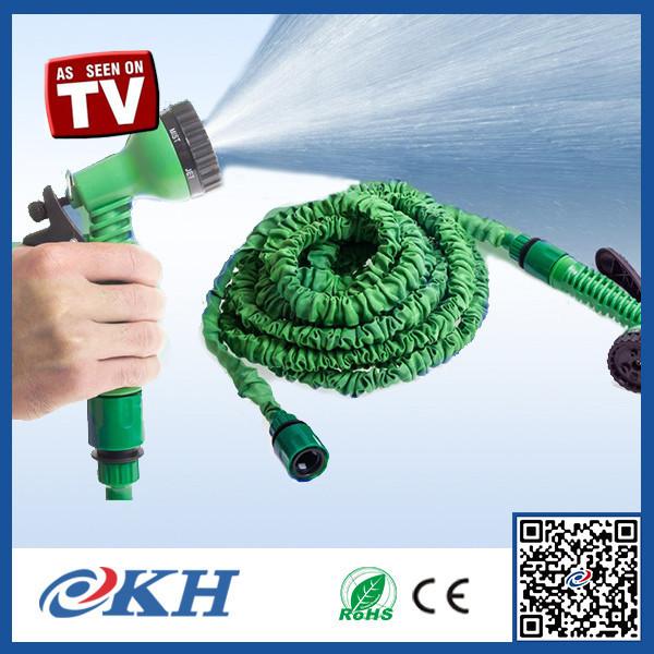 Rétractable PVC jardin tuyau d'eau, Raccord en laiton extensible tuyau d'arrosage