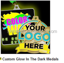 High quality custom glow in the dark medals