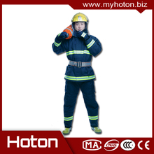 Hot selling kevlar blending nomex firefighter suit with CE certificate