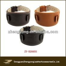 Nuevo diseño de reloj de cuero banda, correa de cuero reloj banda