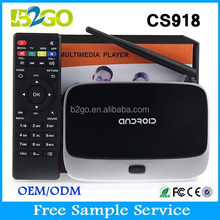 RK3188 quad core tv box CS918 android 4.4 wifi 3D 4K HD 1080P Android smart tv box