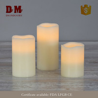 CE new innovation flameless milky led light candle