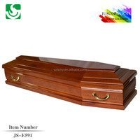 ash wooden funeral cheap cofin beds with carving