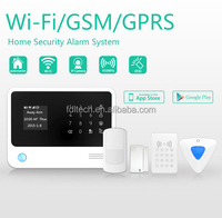 FDL-G90B, WIFI + GSM + GPRS word menu wifi gsm/gprs camera mms alarm system support Android &APP ,support IP camera