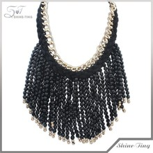 Europe and the United States exaggerate punk tassel necklace
