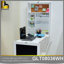 Wholesale NC white Wall mount cabinet with folding desk and blackboard for Children