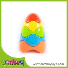 Intelligent educational plastic egg baby stack toy