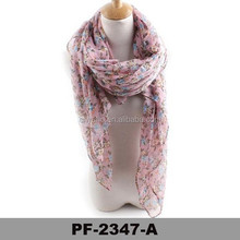 Wholesale fashion hot saling women lady 100% viscose hand knitted scarf patterns scarf