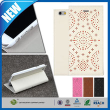 C&T China Wholesale new arrival magnetic flip pu leather case protect mobile phone for iphone 6 plus