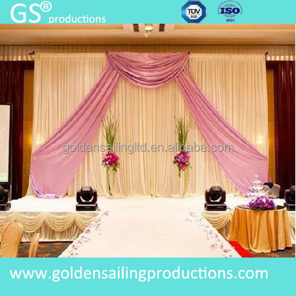New Products Pipe And Drape Wedding Backdrop Stage Backdrop For Sale