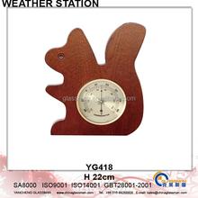 Newest Wooden Weather Station Barometer Decor YG418