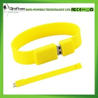 Promotional Gift silicone bracelet usb flash drive 16GB USB Flash Drive
