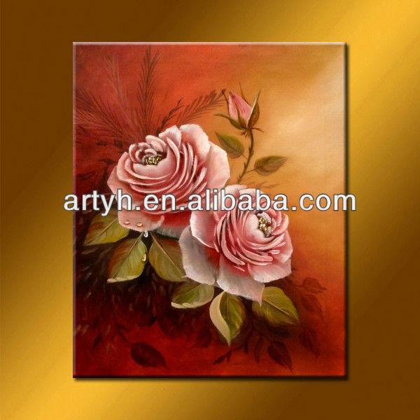 Mais recentes modelos flores para tinta na tela para bens home decor